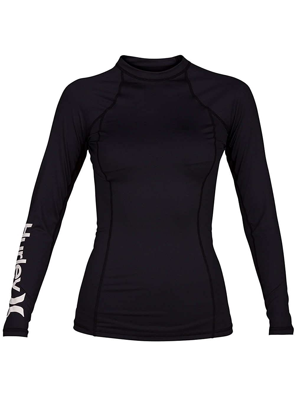 Hurley Womens Standard One & Only Long Sleeve Fitted Rashguard SPF Protection AJ2649