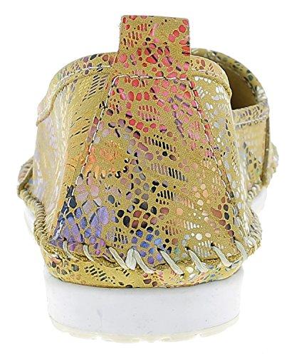 Andrea Conti Dame Pantoufle 0021656 | Pantoufles | Chaussures De Loisirs | Jaune / Kombi
