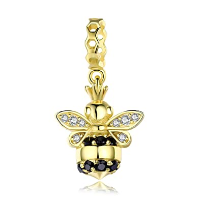 d663812dfd7cc Gold Queen Bee Popular 925 Sterling Silver Queen of Bee Gold Colour ...