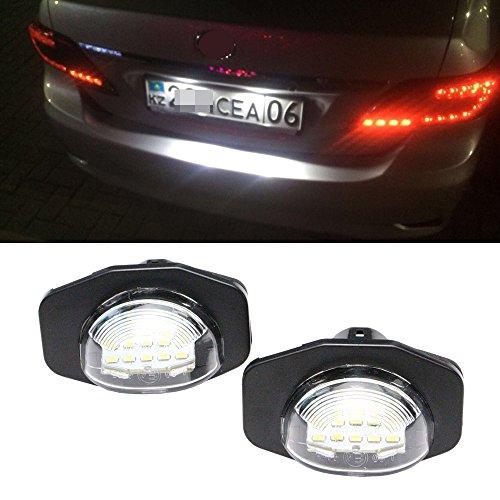 2pcs 12V 18 LED 6000k License Number Plate Lights Lamp for Toyota - 1
