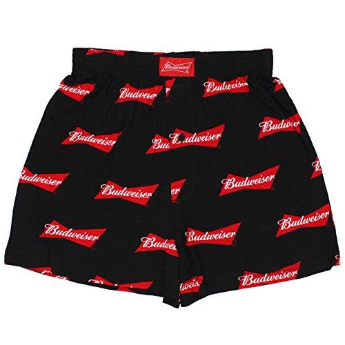 Budweiser Mens Boxer Shorts (Medium (32-34), Bud Black)