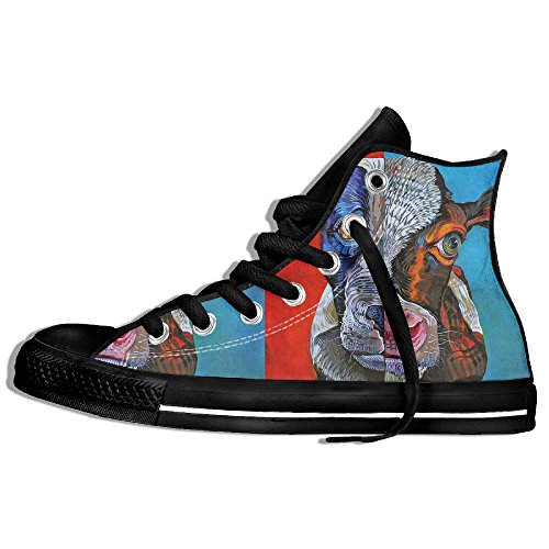 Classiche Sneakers Alte Scarpe Di Tela Anti-scivolo Pitbull Casual Da Passeggio Per Uomo Donna Nero