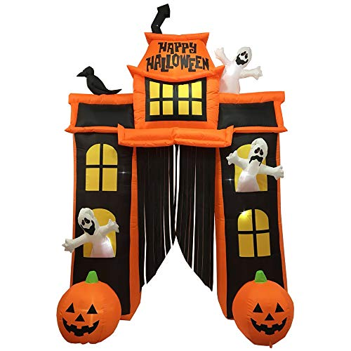 Sheerlund IF18002 10 Ft. Inflatable Outdoor Haunted House Archway Halloween Decoration/Prop with 22 LED Lights