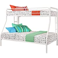 Dorel Twin-Over-Full Metal Bunk Bed, White