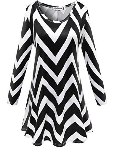 Buy black white print dress - 9