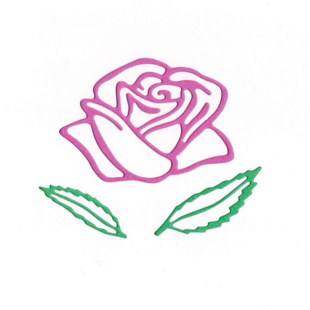 Floridivy Forma Fiore Fustelle in Acciaio al Carbonio Rose goffratura Stencil Metallo Muffa DIY dellalbum Photo Album Crafts