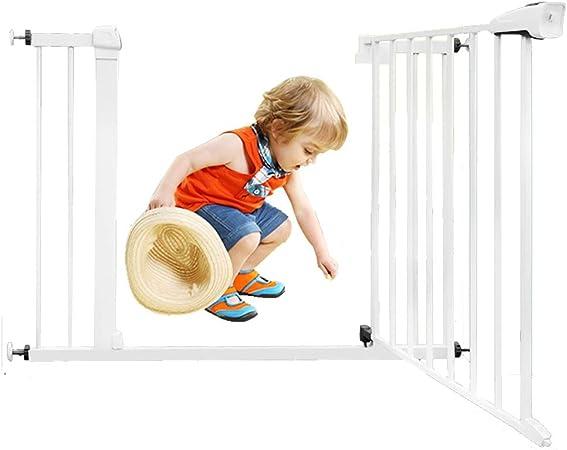 Huo Puerta de La Seguridad del Bebé Blanco, Robusto Escalera Barrera, Puerta de Perro, Ninguna Perforación, Extensible (Color : High76CM, Size : 103-110cm): Amazon.es: Hogar