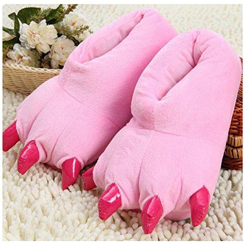Peluche Animal Peluche Unisex LANFIRE Costume Paw Shoes Pink Claw Pantofole 5A1wqdI