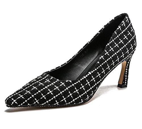 Black Strass Talon Style Heavy LUCKY Chaussures EU38 Summer Noir Surdimensionnées CLOVER Stiletto Sandales Talons À Blanc Metal A Hauts Hippie 4SU1OqR4