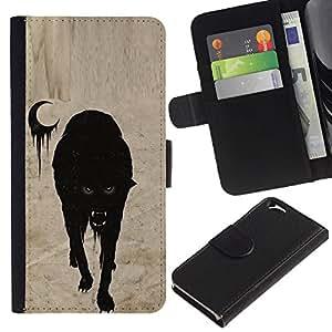 Vampire Luna de Halloween de miedo- la tarjeta de Crédito Slots PU Funda de cuero Monedero caso cubierta de piel Para Apple (4.7 inches!!!) iPhone 6 / 6S