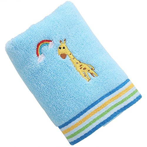 Mr.Macy Bath Towels,Quick Dry-Absorbent-Soft Chirldren Beach Towel 100% Cotton Towels LovelyHand Bath Thick Towel (Blue)