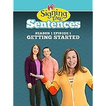 Signing Time Sentences Season 1 Episode 1