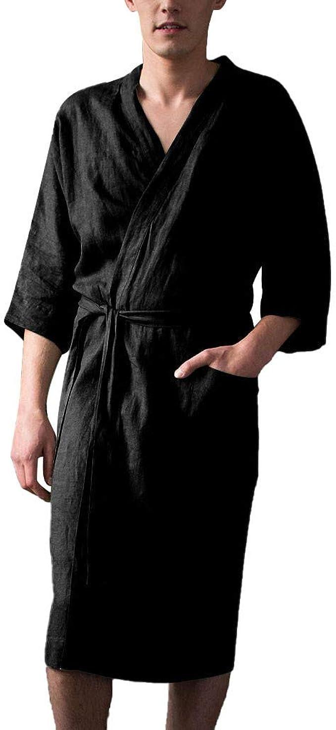 Abetteric Men Lightweight Point Collar Long Sleeve Leisure Big and Tall Work Shirt