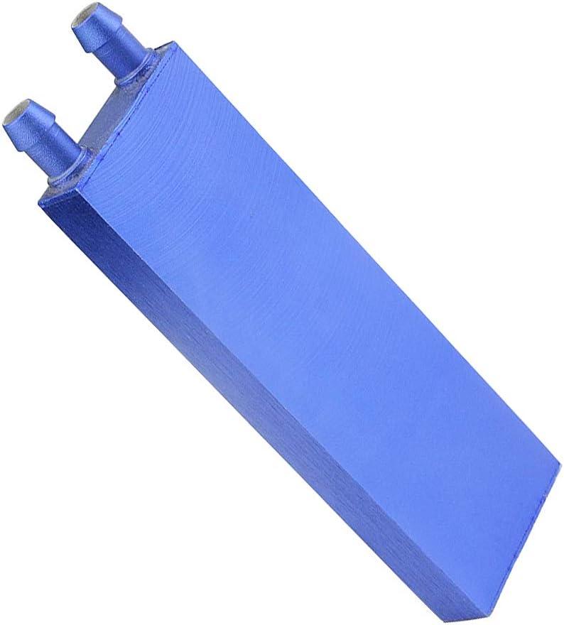 BXQINLENX Aluminum Water Cooling Block for CPU Graphics Radiator Heatsink 40x 120mm Blue