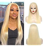 613 Lace Front Wig Human Hair Blonde HD Lace Wig 13x4 Straight Lace Frontal Wigs Human Hair Pre P...