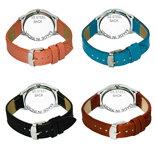 51R4zsLVL5L. SS500  - Acnos Analogue Multicolour Dial Women's Watch - Pack of 4