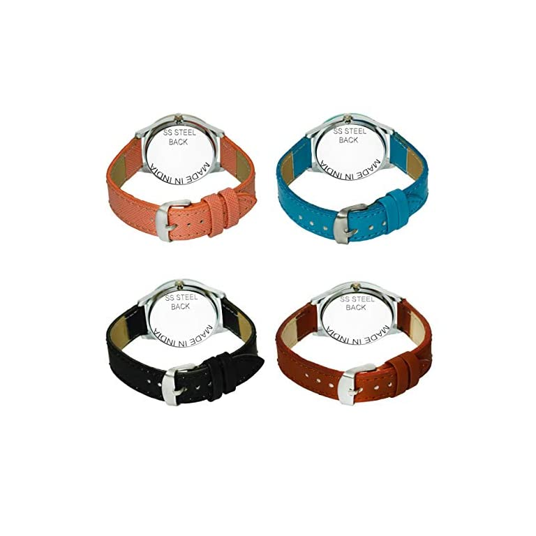 51R4zsLVL5L. SS768  - Acnos Analogue Multicolour Dial Women's Watch - Pack of 4