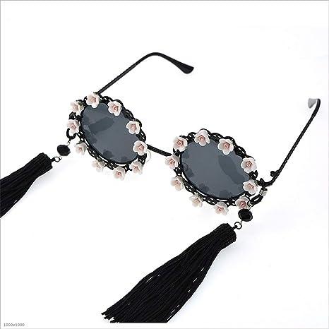 d375664551 Joo Borlas de Elegancia clásica y Gafas de Sol polarizadas con Flores para  Mujer (Color