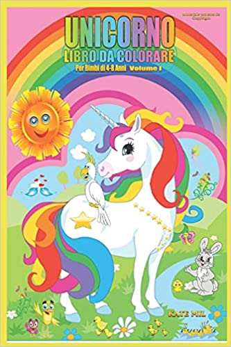 Buy Unicorno Libro Da Colorare Per Bimbi Di 4 8 Anni Volume I