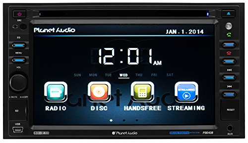 Planet Audio P9640B Double-Din 6.2 inch Touchscreen DVD Player, Receiver, Bluetooth, Wireless Remote