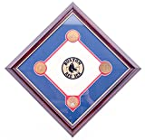 AUTHENTIC APPAREL MLB Boston Red Sox Commemorative Fenway Park Infield Dirt Diamond Plaque with Solid Bronze Medallion Set