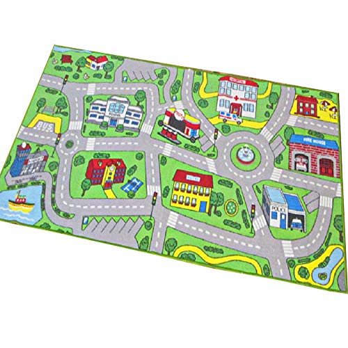 HEBE Kids Rug Playmat Carpet City Life Large