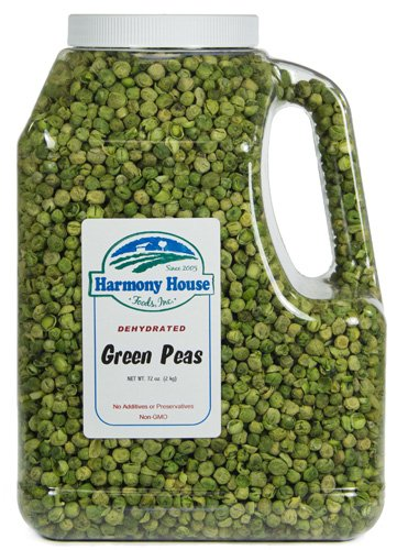 - Harmony House Foods, Dried Peas, Whole, 72 Ounce Gallon Size Jug
