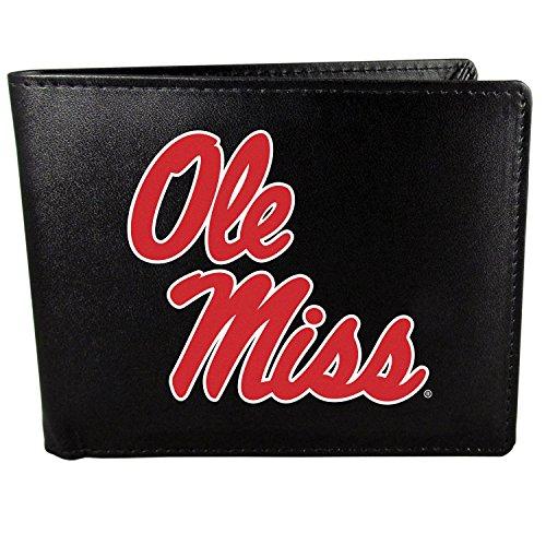 Siskiyou NCAA Mississippi Ole Miss Rebels Bi-Fold Wallet Logo, Large, Black