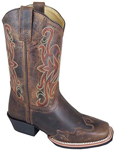 Smoky Mountain Boys' Rialto Western Boot Square Toe Brown 1 D(M) US