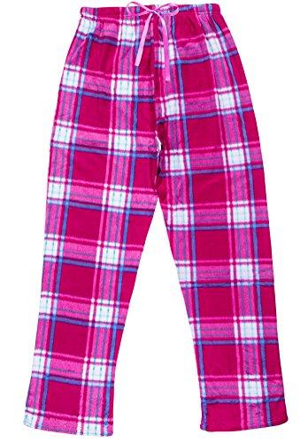 North 15 Women's Super Cozy Plaid Minky Fleece Pajama Bottom Lounge Pants-L1527-Design3-2XL