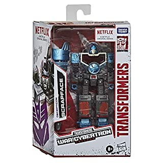 Transformers Netflix War for Cybertron Trilogy Deluxe Class Decepticon Scrapface