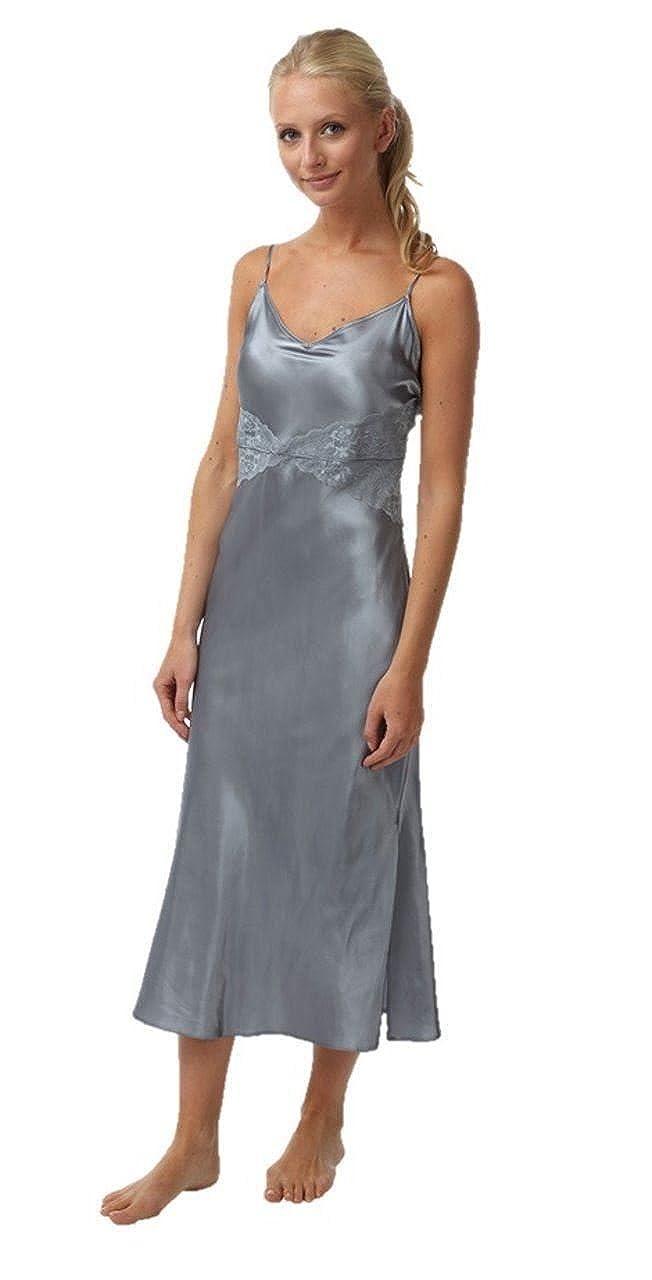 21d7b33584 Ladies Silver Satin Nightie Size 10  Amazon.co.uk  Clothing