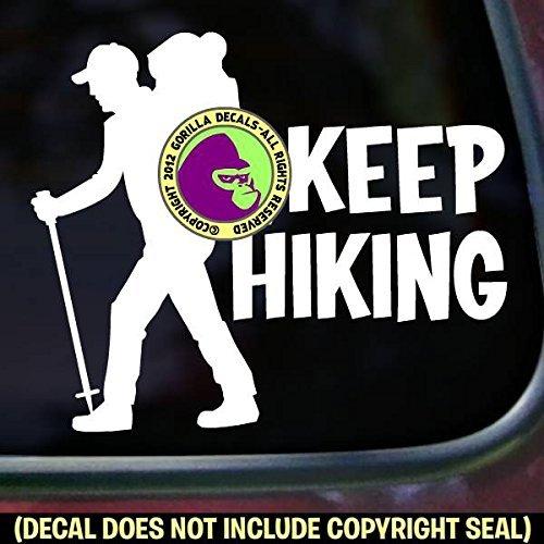 KEEP HIKING Hiker Vinyl Decal Sticker A