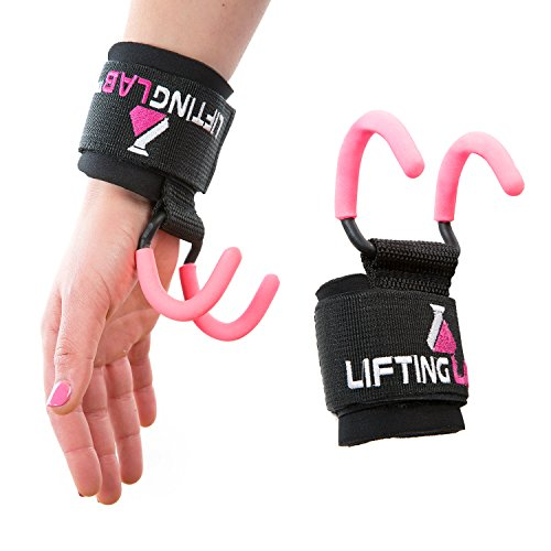 Lifting Lab | Women's Weightlifting Hooks | Grip Assisting Callous Guards for Back (Neoprene Coated Nylon)