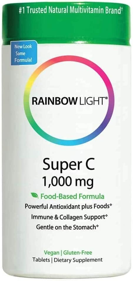 Rainbow Light, Super C 1000Mg, 60 Count