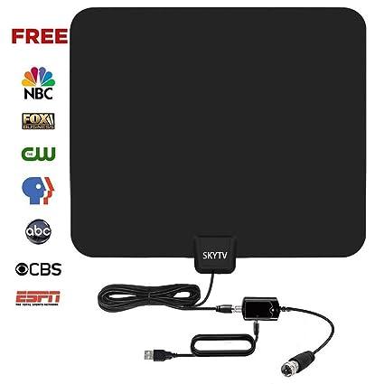 SKYTV amplificada HDTV antenna 50 millas Range interior Digtial HD TV Cable Coaxial de antenas con