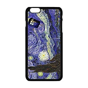 GKCB Doctor Starry night painting Who Cell Phone Case for Iphone 6 Plus