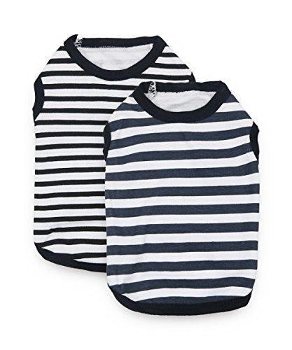 DroolingDog - Camisas de Perro para Perros pequeños, Ropa de algodón para Perro, Ropa para Cachorro, Paquete de 2,...