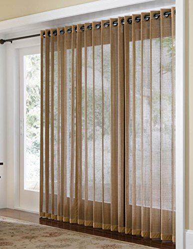 Bamboo Grommet Top Panels for Sliding Glass Doors and Large Windows
