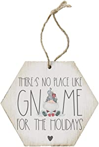 Simply Said, INC. There's No Place Like Gnome - 4.5 x 6.88 in Wooden Christmas Tree Ornament ORH1153
