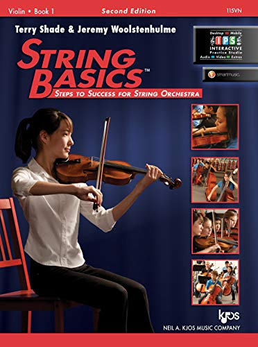 115VN - String Basics: Steps to Success for String Orchestra Violin Book 1 from KJOS