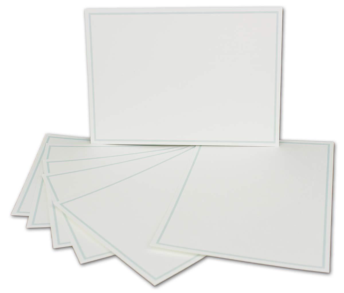 Postkarten-Einfachkarte-DIN A6-240 g m² - - - Natur-Weiss-Creme mit Rahmen in Hellblau - 200 Stück - Premium QUALITÄT - 10,5 x 14,8 cm - Ideal für Grußkarten und Einladungen - NEUSER FarbenFroh B07JQC275B | Starke Hitze- und Abnutzun 64029c