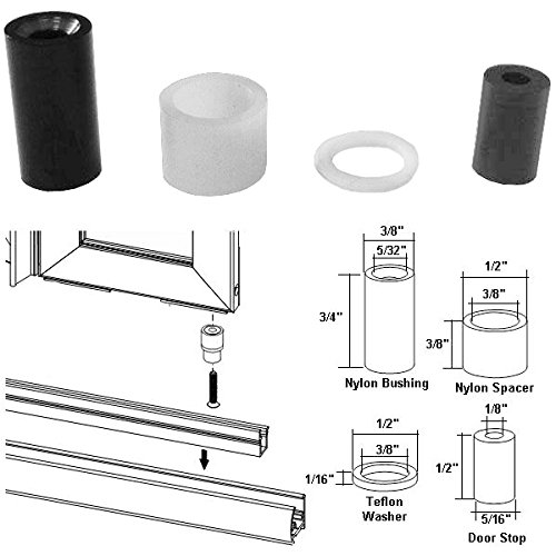 Nylon Bushing Kit And Door Stop For Framed Pivot Shower Doors     Amazon.com