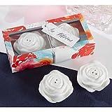 BST Wedding Favors Rose Ball Salt and Pepper Shakers Set Favor
