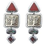 Tabra 925 Silver & Bronze Abalone Post Earrings