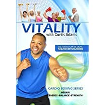Senior Fitness DVD exercise video: Vitality, Cardio Boxing Series, by Curtis Adams host of National TV program A New Way 2 Move.