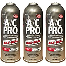 A/C PRO (ACP-105) PRO Professional Formula R-134a Ultra Synthetic Air Conditioning Refrigerant with Advanced Leak Sealer - 12 oz. - 3 cans