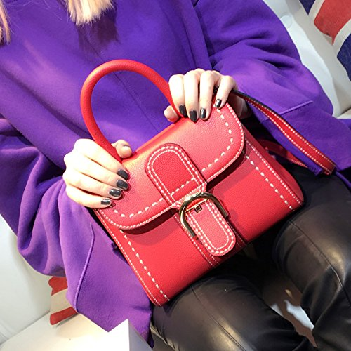 Horseshoe Bag Messenger Sacs main Red Sacs small fourre Femme à Boucle Saddle tout Sac tZSnXxqaw