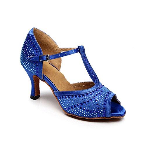 Mujer Zapatillas Misu Danza Negro De Azul Para v7cfqfTSA
