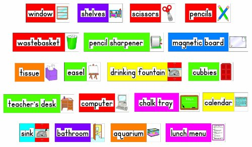 Carson Dellosa Four Blocks Print-Rich Classroom Labels Bulletin Board Set (3266) by Carson-Dellosa